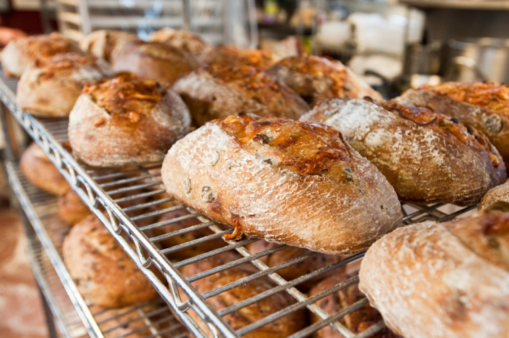 Parmesan & Green Olive Bread