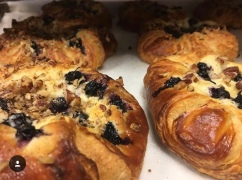 Blueberry, Cream Cheese Danish with Toasted Peans